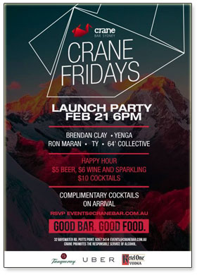 Crane Fridays Launch Party