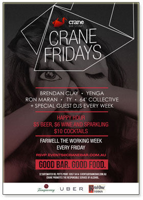 Crane Fridays - Every Friday at Crane Bar!